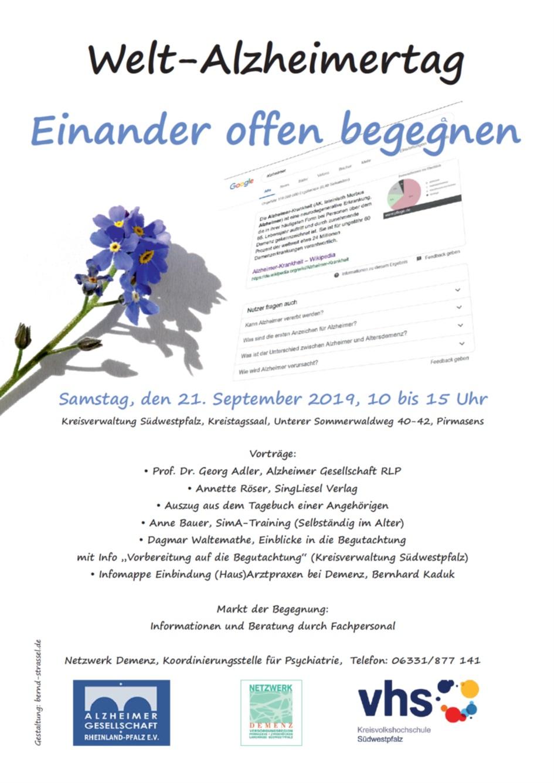 Welt-Alzheimertag 2019 in Pirmasens